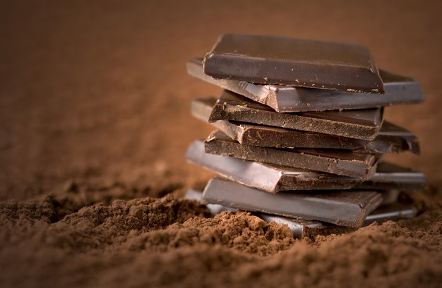 Stacked chocolate squares