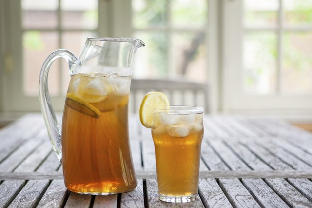 A pitcher of iced tea.