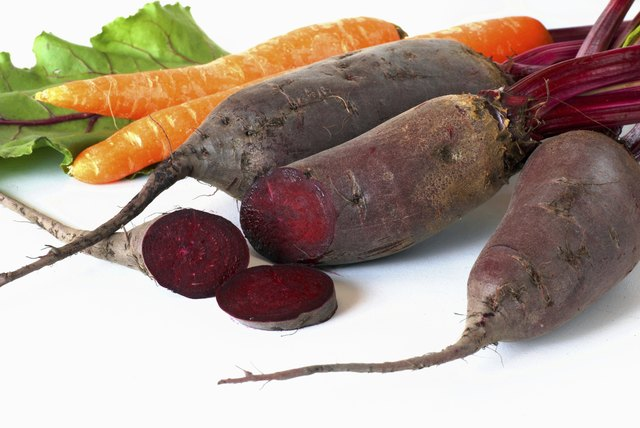 Beets and carrots.