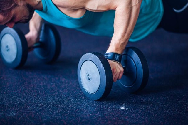 You can also use dumbbells as replacement push-up handles.