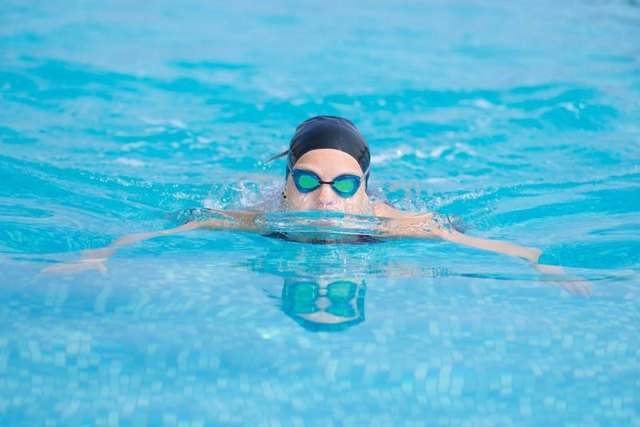 When comfortable, add swim strokes for a better workout.