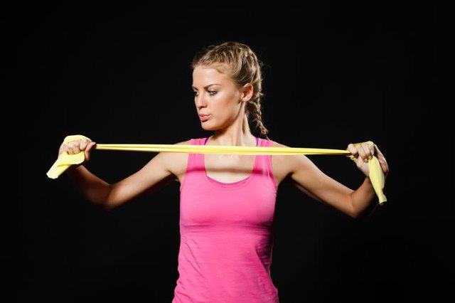 Resistance bands are lightweight and portable.