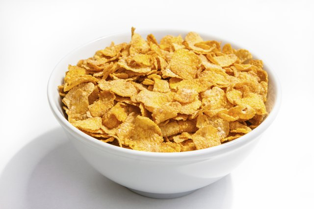 Avoid foods like corn cereal.