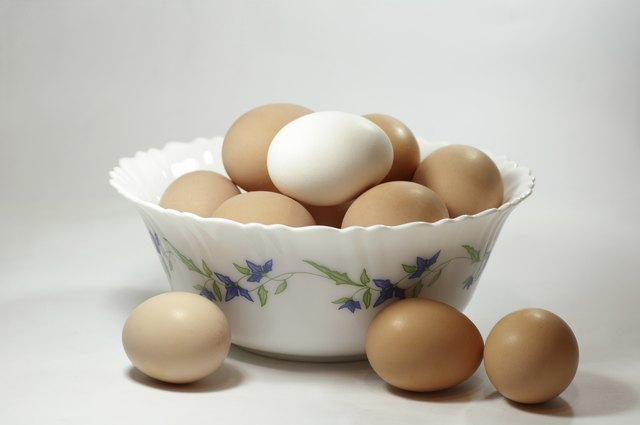 Eggs are a good source of protein.