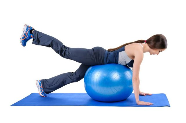 You can try using a stability ball to take pressure off your wrists and knees.