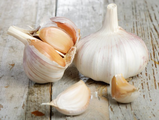 Garlic bulbs and cloves