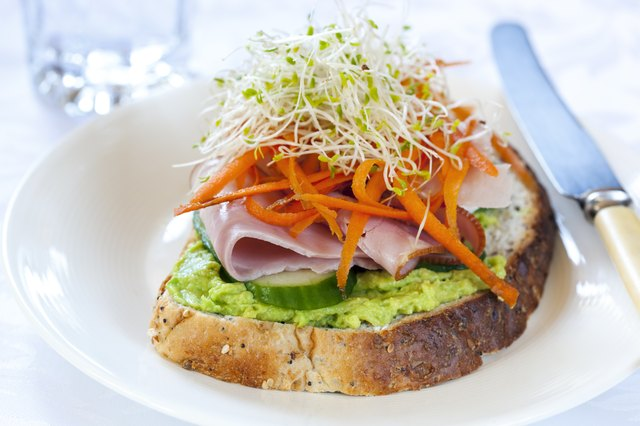 clover sprouts on top of sandwich