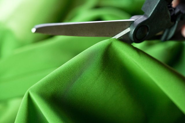 Make sure to use the sharpest scissors possible to avoid snagging the fabric.