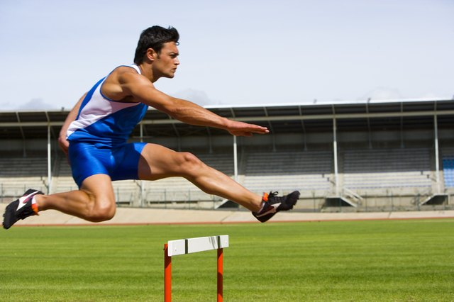 Hurdle jumps are a type of plyometric exercise used by athletes.