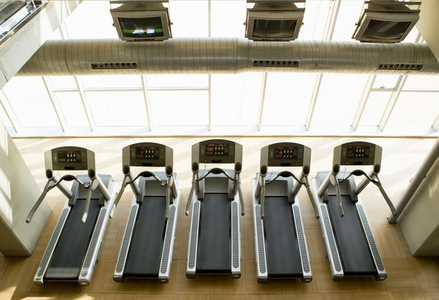 Jog or walk briskly on a treadmill.