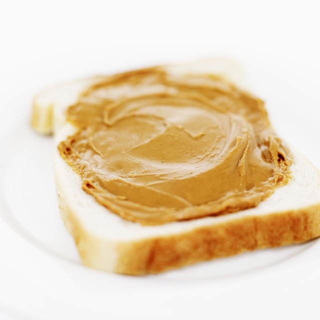 Peanut butter on toast.