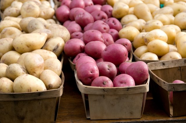 Raw potatoes are a good source of potassium.
