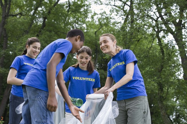 Volunteering helps teens develop positive self-esteem.