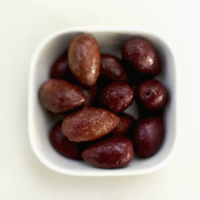A bowl of Mediterranean olives.