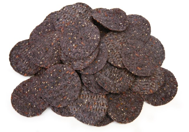 Blue corn tortilla chips.