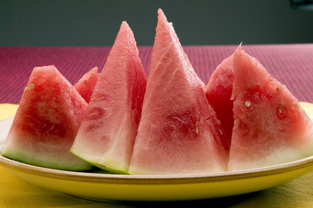 Watermelons are not high in fiber, but they are rich in vitamins A and C.