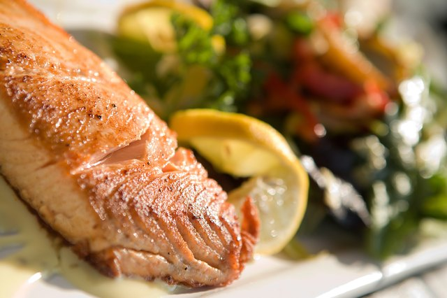 Salmon is a healthy main course choice for the protein and omega-3 fatty acids it contains