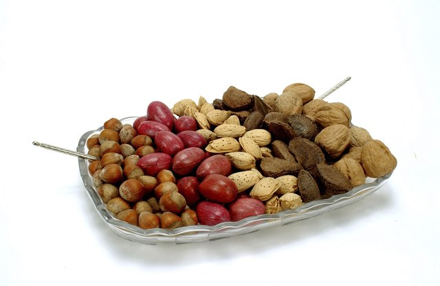 Assorted raw nuts.