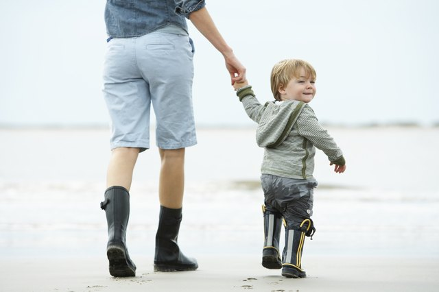 Walking skills improve during the second year of life.