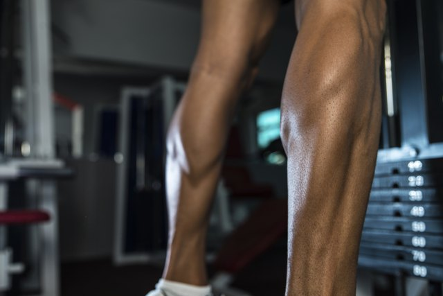 Training your calves with resistance based exercises will increase their tone.