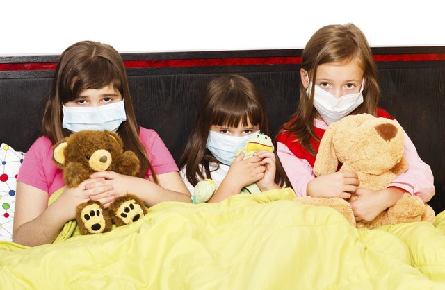 Children can pass the strep throat virus through their saliva or nasal fluids.