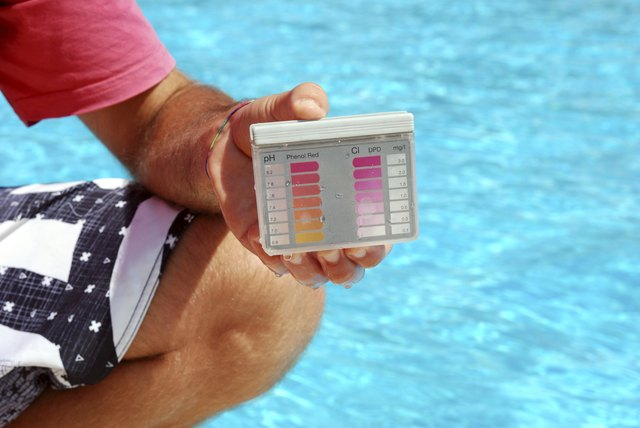 Make sure you test your pool's pH level frequently.