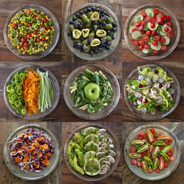 Pick a salad or partly germinated nuts or raw nuts or raw dairy cheeses or pickles.