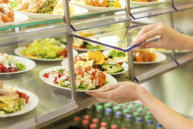 Salad bars provide healthy vegetables.