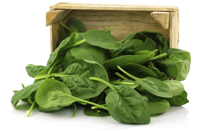 Fresh spinach.