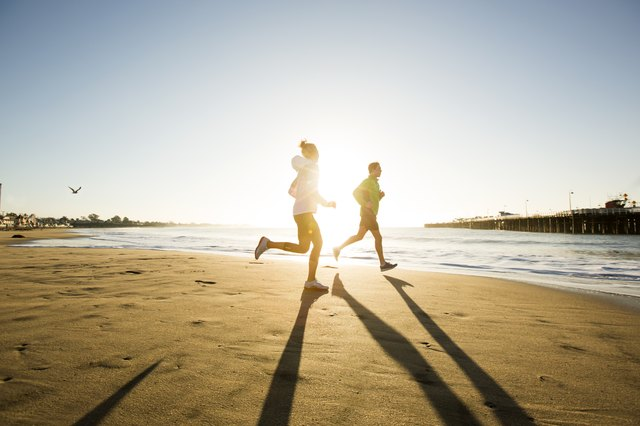 Running on sand is another option for a soft surface to vary your terrain.