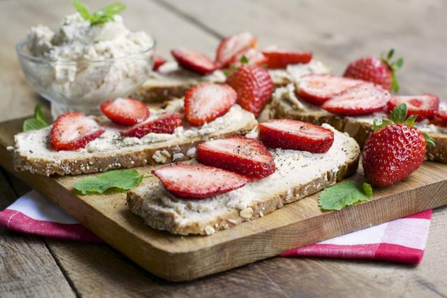 Replace regular cream cheese with its vegan counterpart, and spread it on toast topped with fresh fruits.
