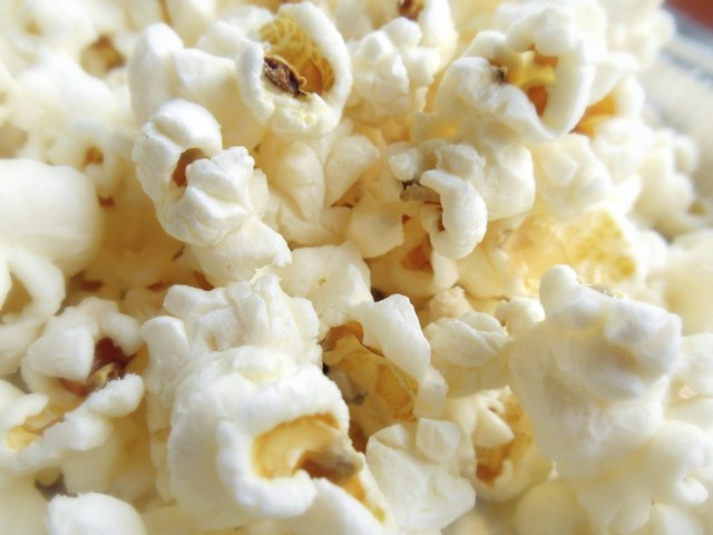 close up of popcorn