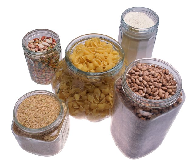 Dried beans and legumes.