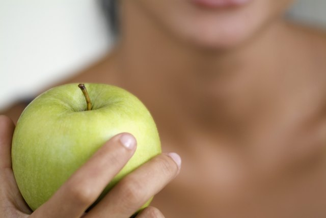 Apples are a high-fiber fruit.