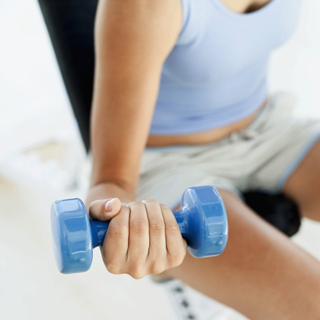 Decrease the amount of resistance used while strength-training.