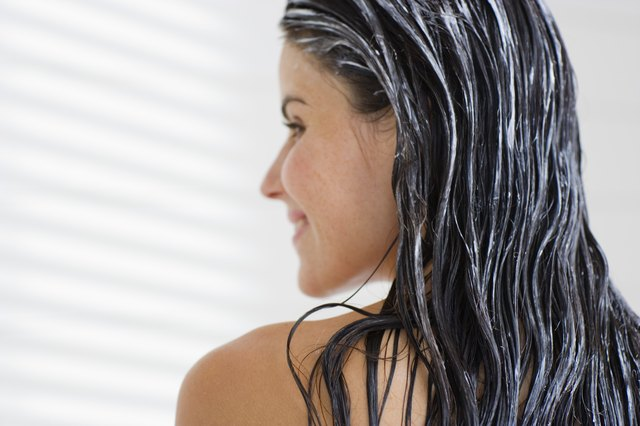 Shampoo and condition your hair with a strength-enhancing shampoo.