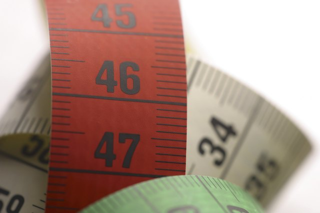Close up of tape measures.