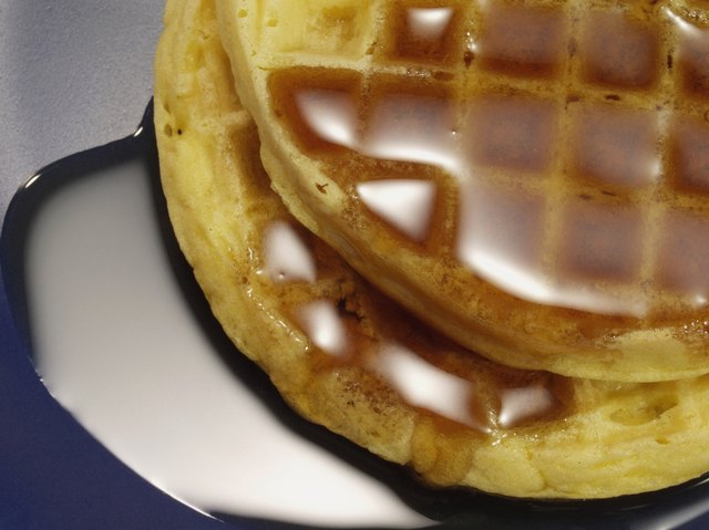 Frozen breakfast foods like waffles work well in the toaster oven.