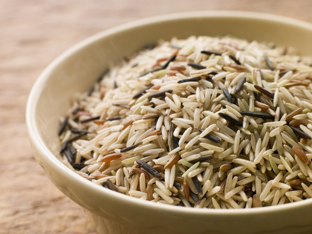 Bowl of uncooked wild rice