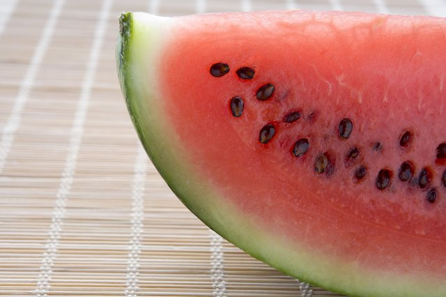 A slice of fresh watermelon.