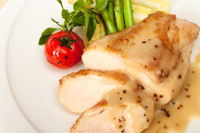 Chicken with tomato and asparagus