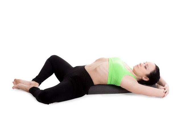 Reclining in Supta Baaddha Konasana can be relaxing.