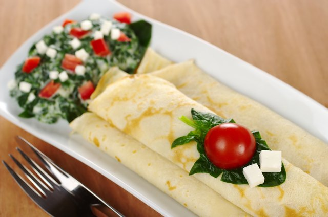 healthy spinach crepes