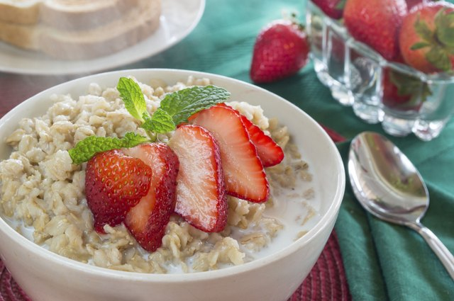 Oatmeal with fruit.