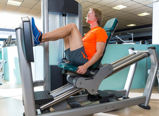 The leg press effectively trains your lower body.