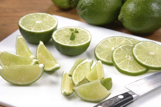 freshly sliced limes