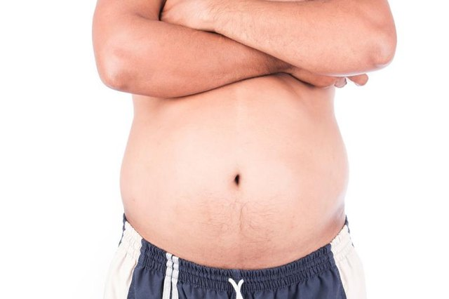 Taming a big stomach requires both work and abdominal exercises.