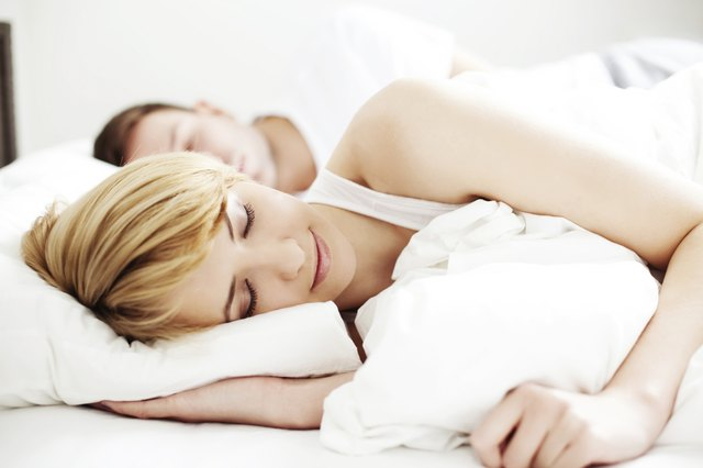 woman sleeping well at night