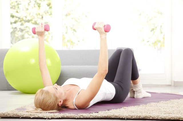 A set of light dumbbells makes a home workout happen.