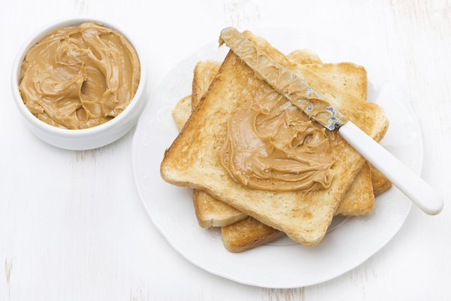 Peanut butter is a good source of protein.